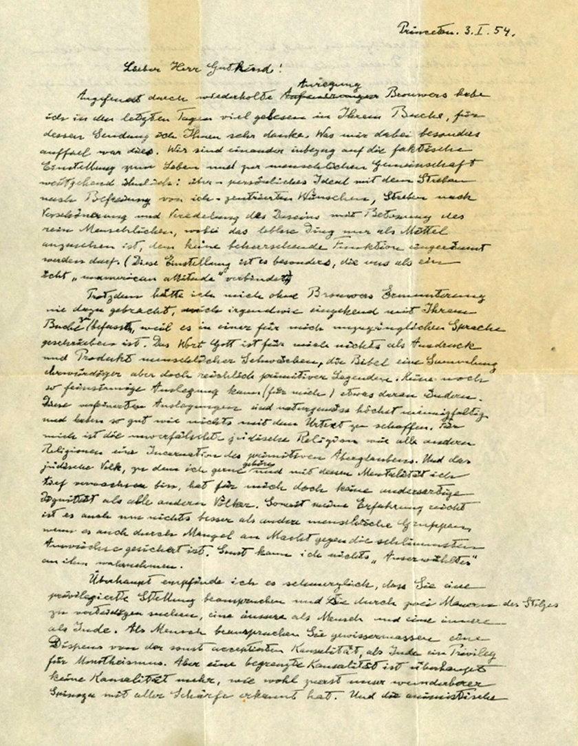 Możesz kupić oryginalny list Alberta Einsteina