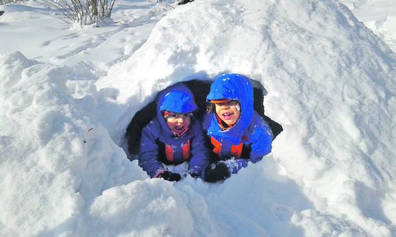 Ranko i Džekson uživaju na snegu