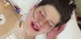 15-latek wybudza się po przeszczepie. Wzruszające wideo