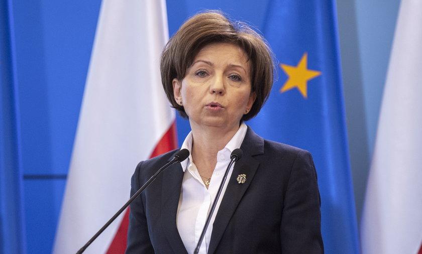 """Minister rodzina Maląg. Jej resort przyznaje, że """"14"""" będą przyznane tylko raz."""