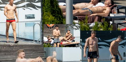 Co za widoki! Lewandowski i Szczęsny wylegują się na słońcu. DUŻO ZDJĘĆ