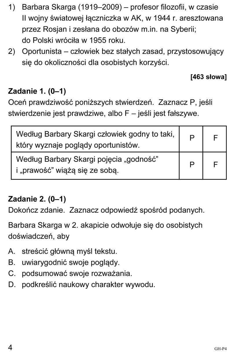 Egzamin Gimnazjalny 2018: Język polski - Odpowiedzi i Arkusze