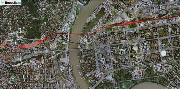 Brza pruga Beograd-Budimpešta (mapa)