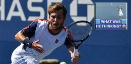 Najgorsze zagranie w historii tenisa? Zobacz serwis Francuza (WIDEO)
