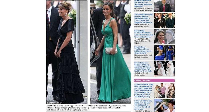 Suknie Kate i Pippy na weselu. Ładne?