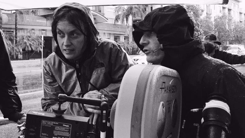 "Monika Lenczewska i Jacques Jouffret na planie ""LAbyrinth"" (fot. James Wall)"