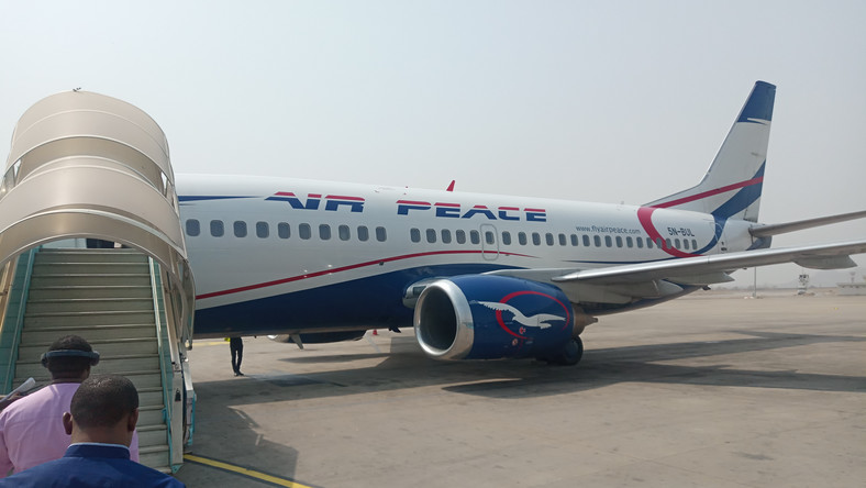 Passengers getting on-board Air Peace flight in Abuja (NAN)