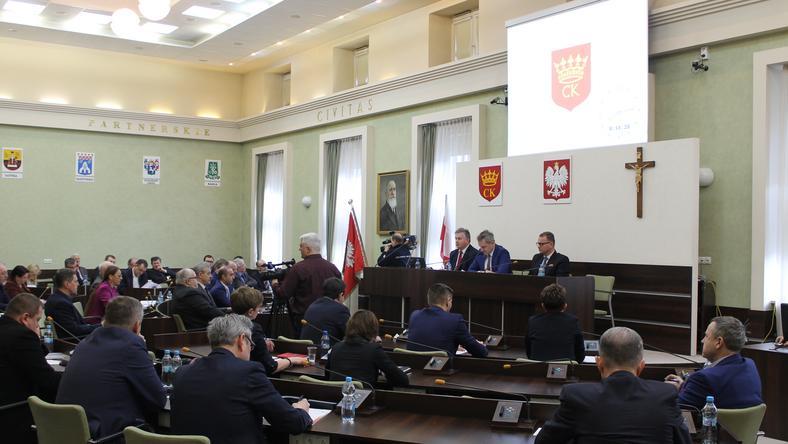 Sesja rady miasty Kielce
