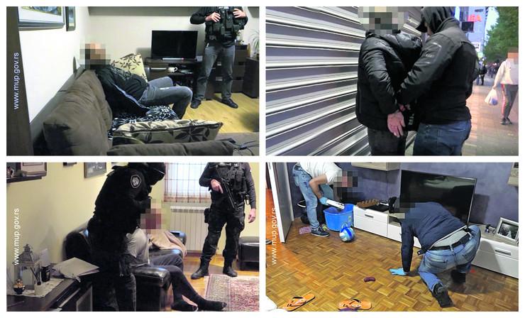 hapšenje dilera kombo foto MUP