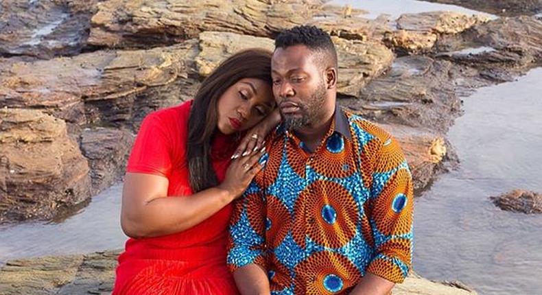 Adjetey Anang and wife