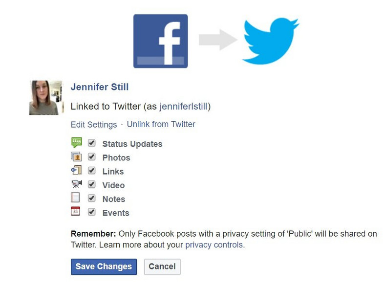 how to link facebook to twitter 3