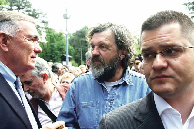 Dušan Kovačević, Emir Kusturica i Vuk Jeremić