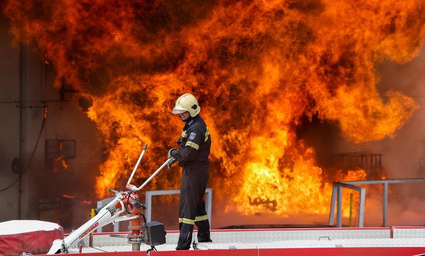 pożar fabryki