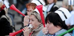 Protest pielęgniarek w Wyszkowie