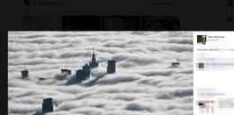 Warszawa we mgle! Widać tylko wieżowce