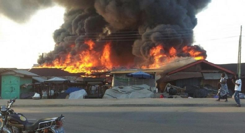 An illustrative photo of fire incident in Nigeria.  [leadership]