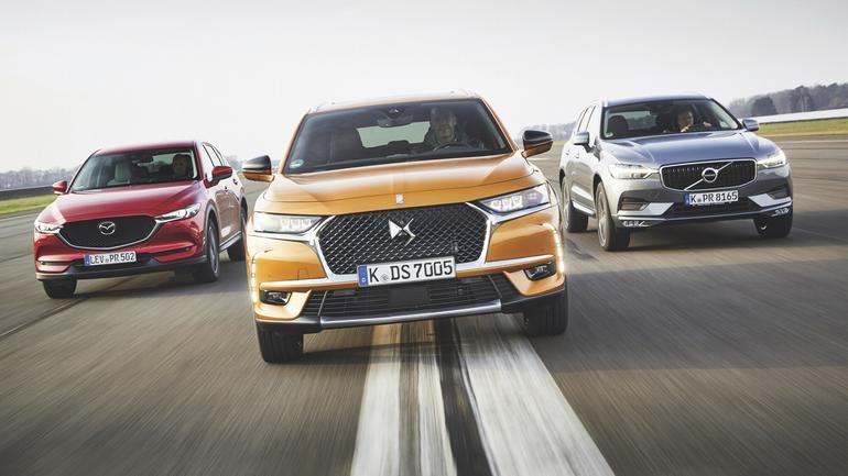 SUV nie musi być niemiecki - DS 7 vs. Mazda CX-5 i Volvo XC60