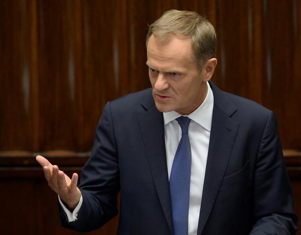 Donald Tusk w Sejmie. Fot. PAP/Radek Pietruszka