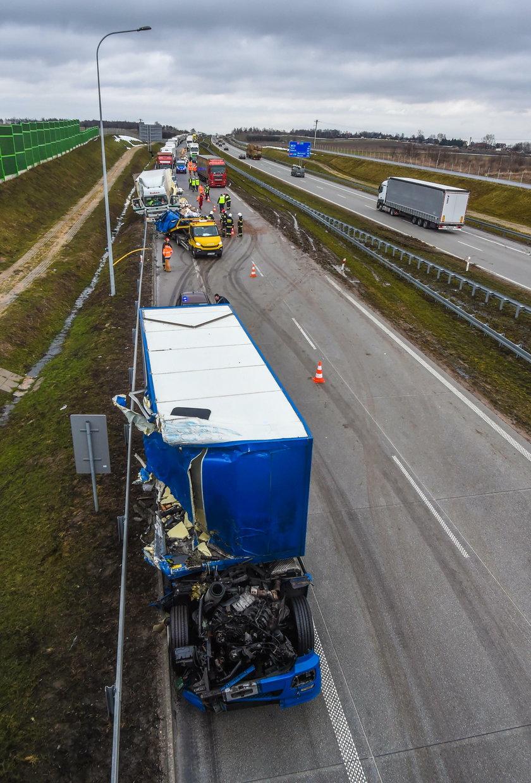 Makabryczny wypadek na A1. Zderzyły się dwa tiry