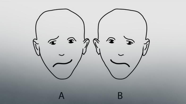 Która twarz jest szczęśliwsza?