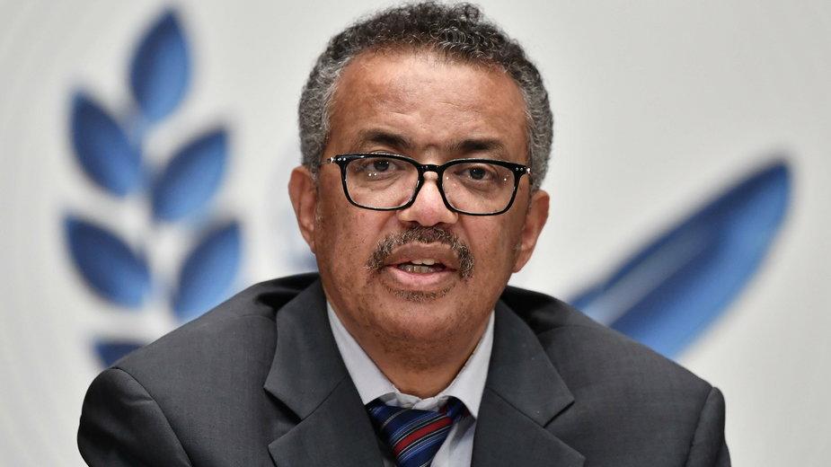 Dyrektor generalny Światowej Organizacji Zdrowia Tedros Adhanom Ghebreyesus
