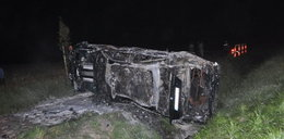 Spłonęło auto. 4 osoby w szpitalu