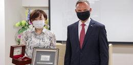 Tokio 2020. Andrzej Duda obok Jill Biden na ceremonii otwarcia igrzysk