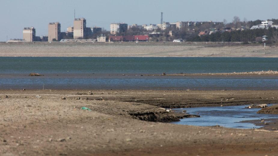 Niski poziom wód w Symferopolu, kwiecień 2020 r.
