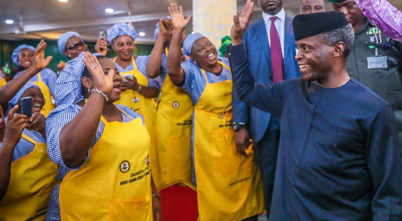 Osinbajo inaugurates home grown school feeding programme in Edo