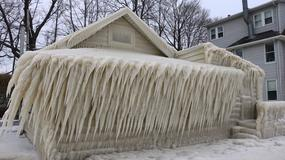 Jeden z domów znajdujących się nad jeziorem Ontario całkowicie pokrył się lodem