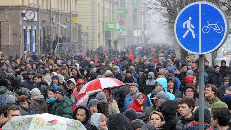 25 marca - protest na ulicach Mińska