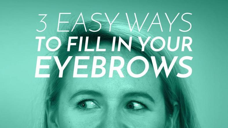 3 easy ways to fill your eyebrows