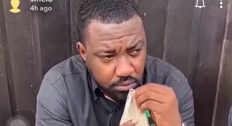 John Dumelo drinks Hausa Koko