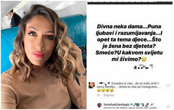 Hana Hadžiavdagić odbrusila na Instagramu