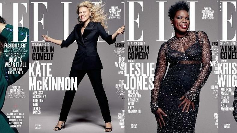 'Ghostbusters' actresses Melissa McCarthy, Kristen Wiig, Leslie Jones and Kate McKinnon for Elle Magazine July 2016 issue
