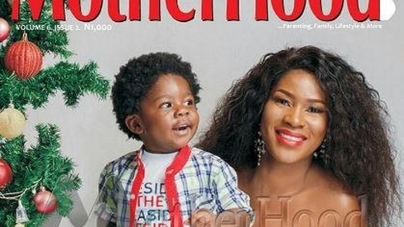 Stephanie Okereke-Linus and son cover Motherhood-in-style Christmas edition