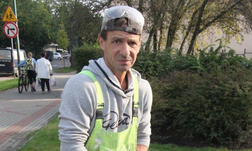 Artur Strzelecki (49 l.) robotnik budowlany z Kołobrzegu