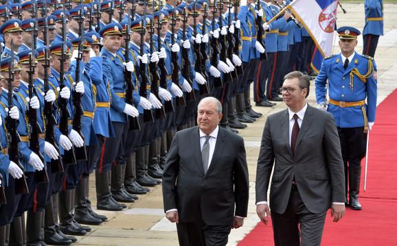 Svečani doček ispred palate Srbija