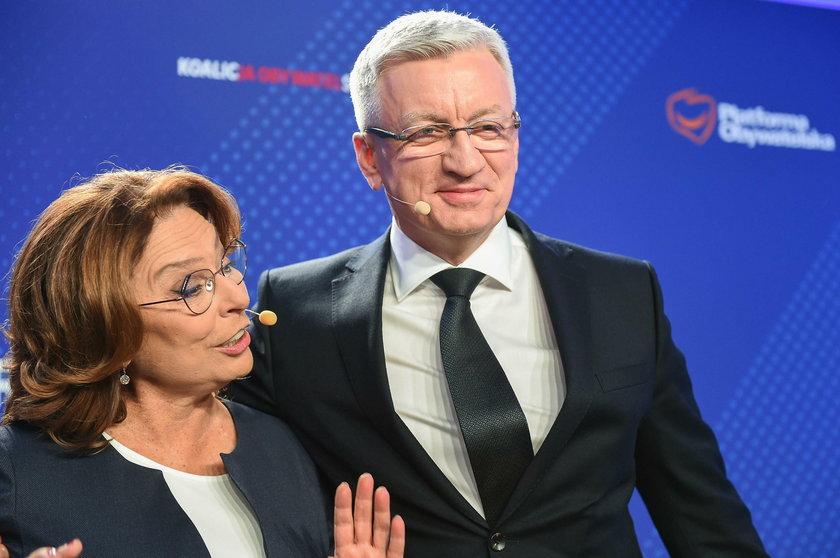 Małgorzata Kidawa-Błońska i Jacek Jaśkowiak