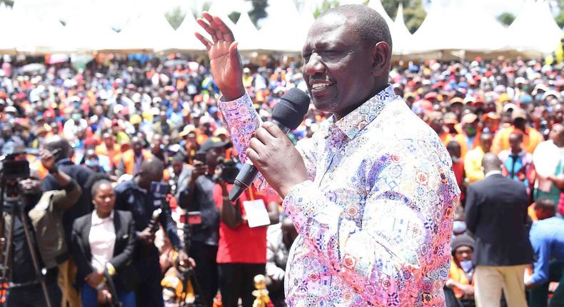 Deputy President William Ruto during rallies in Central Kenya