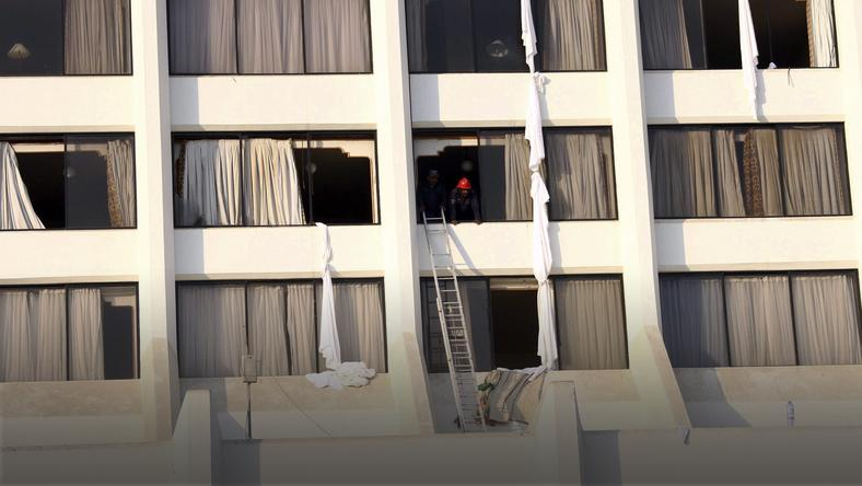PAKISTAN FIRE  (Fire at a hotel kills 11 people and injured 30 others in Karachi)