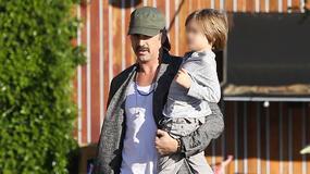 Colin Farrell z synkiem Henrykiem Tadeuszem na zakupach