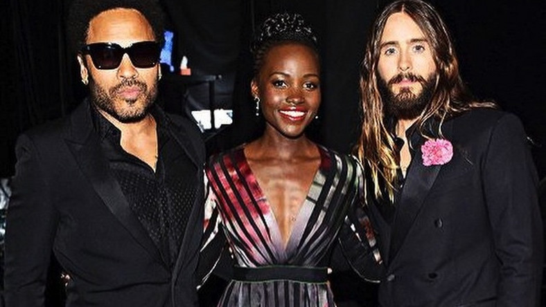 Lenny Kravitz, Lupita Nyong'o i Jared Leto