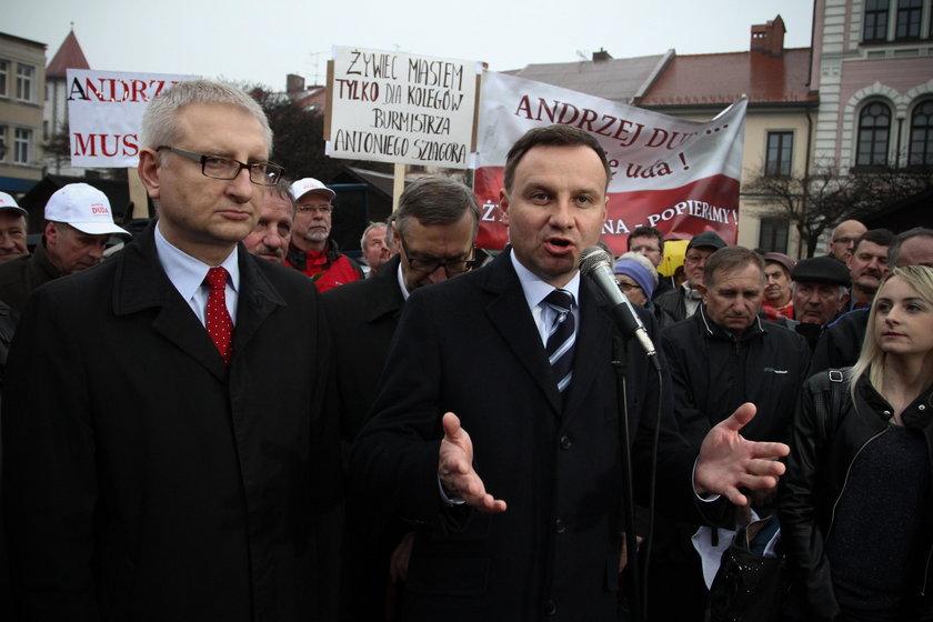 Andrzej Duda i Stanisław Pięta