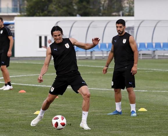 Edinson Kavani i Luis Suarez - junaci trijumfa nad Portugalom