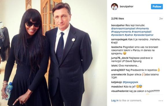 Borut Pahor i Naomi Kembel