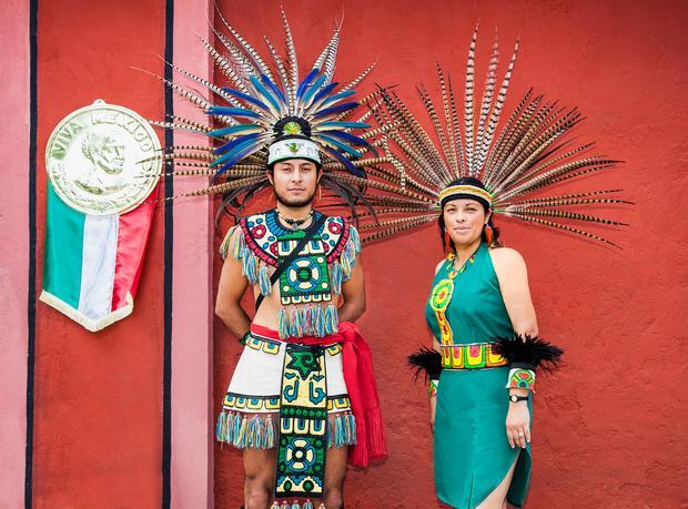 W stroju Majów