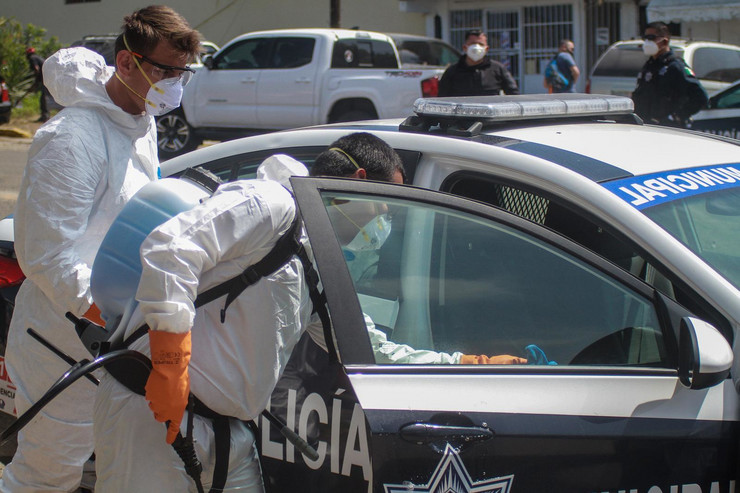 Meksiko policija pokrivalica