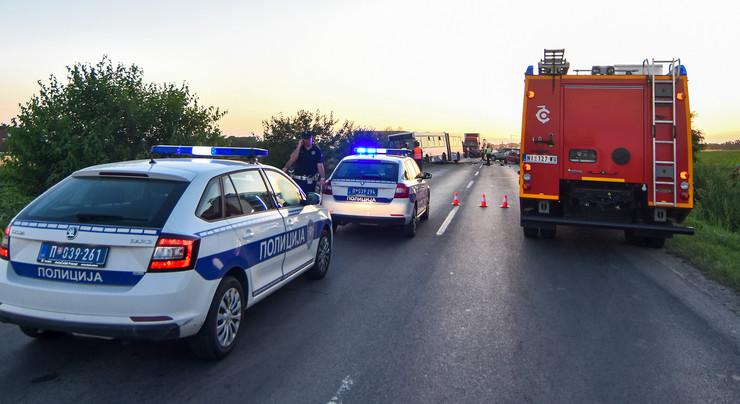 Novi Sad119 saobracajna nesreca udes na putu Rumenackom putu foto Nenad MIhajlovic