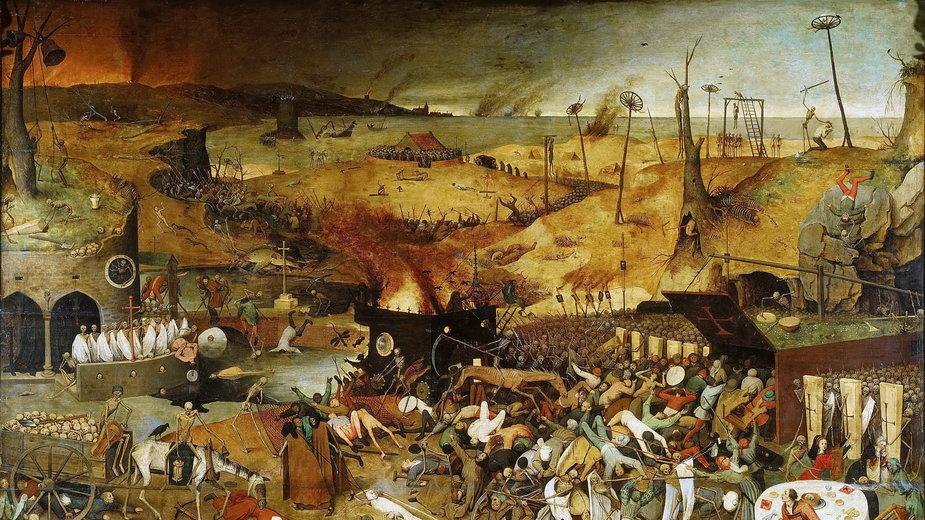 """""""Triumf śmierci"""" (1562) Pietera Bruegla"""